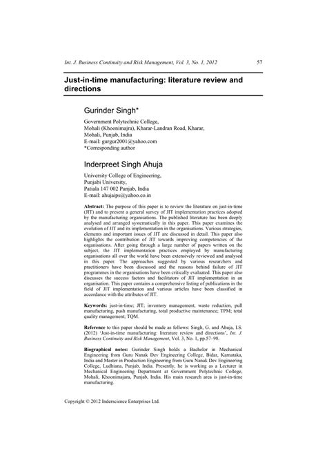 Review Of Literature On Inventory Management For Mba by Review Of Related Literature Sle In Inventory System