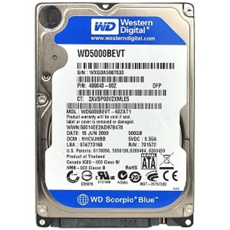 Hardisk Laptop Wd Scorpio Blue 500gb evertek wholesale computer parts western digital scorpio blue wd5000bpvt 500gb sata 300