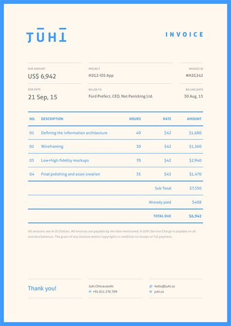 Design An Invoice * Invoice Template Ideas