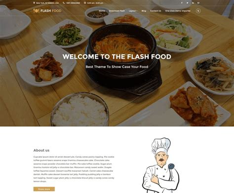 themes wordpress free restaurant 10 best free responsive restaurant wordpress theme 2017