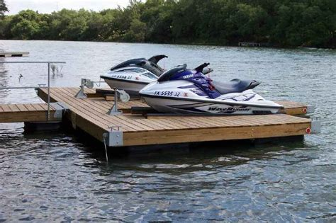boat dock swim platform double pwc dock floating boat dock with swim platform ebay
