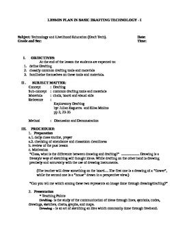 lesson plan  basic drafting technology   jeyms tpt