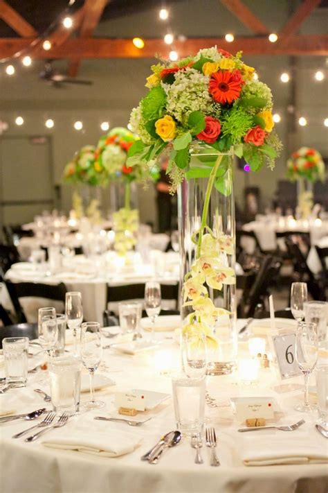 centerpieces with vases wedding centerpiece ideas with cylinder vases archives