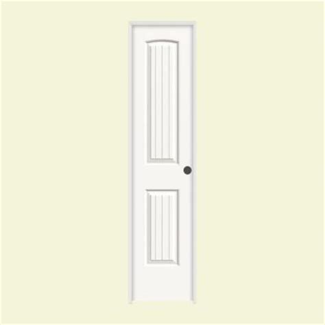 jeld wen smooth 2 panel arch painted molded single prehung jeld wen smooth 2 panel arch top v groove painted molded
