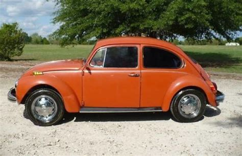 orange volkswagen beetle orange vw beetle
