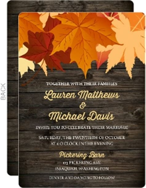 Cheap Fall Wedding Invitations by Cheap Fall Wedding Invitations Invite Shop