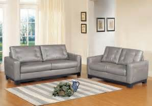 Grey Leather Loveseat Corey Sofa In Grey Bonded Leather W Optional Loveseat Chair