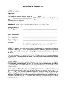 performance contract template best photos of artist performance contract agreement