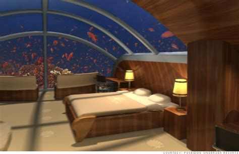 Undersea Bedroom by Fiji Poseidon Undersea Resort 6 Stunning Undersea