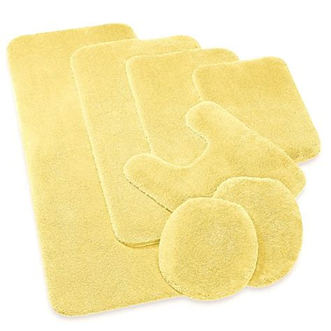 Yellow Bathroom Rug Wamsutta 174 Duet Contour Bath Rug Bedbathandbeyond