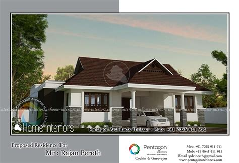 elegant home in 1850 square feet kerala home design and 1850 square feet single floor traditional home design