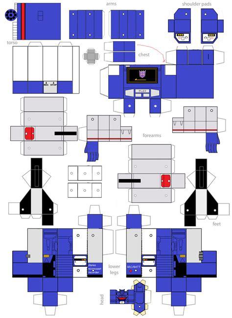 Transformers Papercraft - papercraft soundwave by minibot gears on deviantart