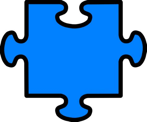Autism Outline by Puzzle Outline Template Clipart Best