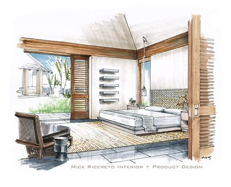 House Plans With Great Kitchens Hand Rendering Mick Ricereto Interior Product Design