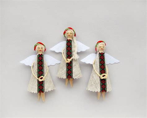 ethnic christmas angels folk ukrainian christmas ornaments