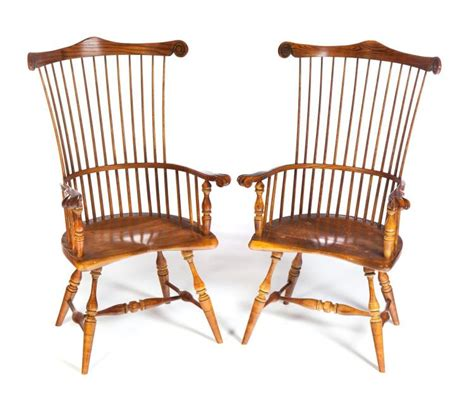 pair of quot frederick duckloe and bros quot fan back style