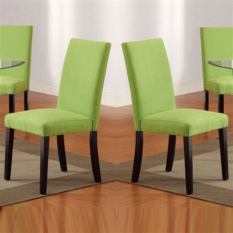 contemporary green dining chairs homes