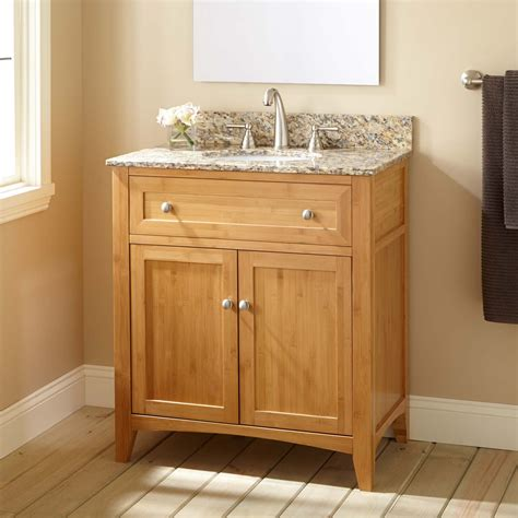 narrow depth bathroom vanities 30 quot narrow depth halifax bamboo vanity for undermount sink