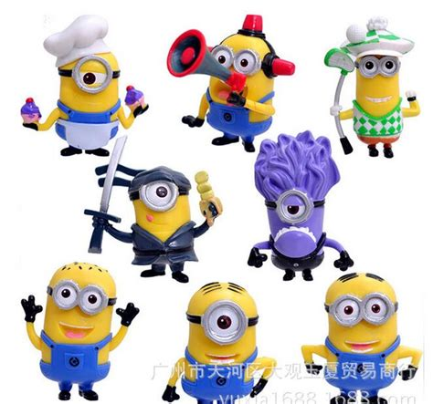 Ho4083 Patung Animation Mini Despicable Me Set china figurines promotion shop for promotional china figurines on aliexpress
