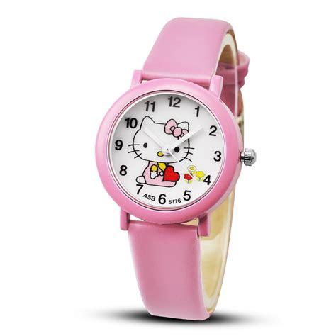 Jam Tangan Kulit Buka Hello 2018 hello kartun jam tangan perempuan kulit jam