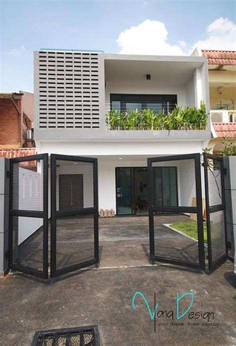 Home Exterior Design Malaysia by Yong Studio Sdn Bhd Simple Yet Fascinating Terrace House