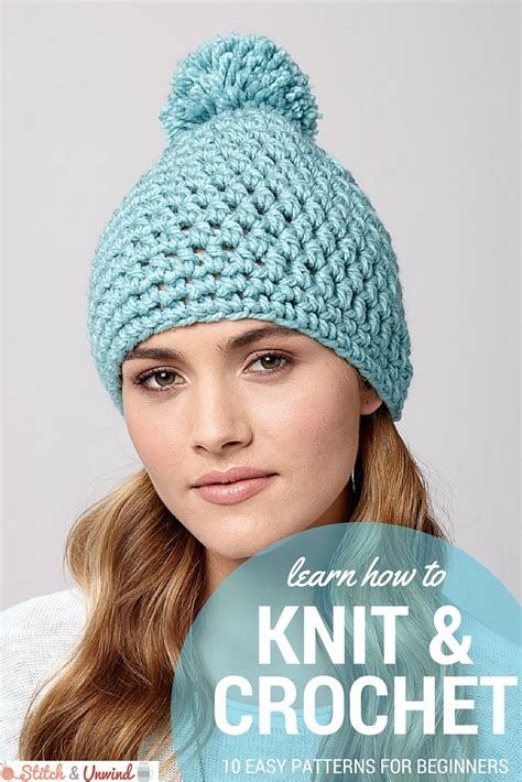 is it harder to knit or crochet new year new skill easy patterns for beginners stitch