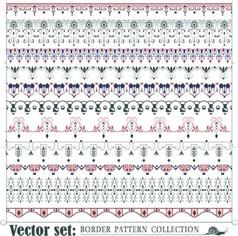 pattern border illustrator borders ornaments pattern vector set free vector in adobe
