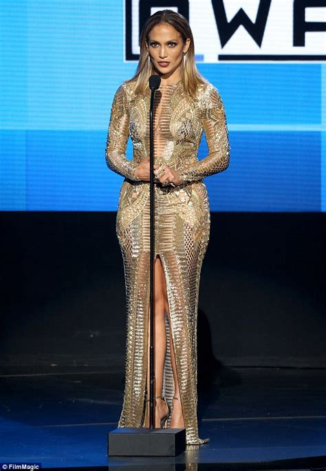 Jlo Does Designer by And P Diddy At Amas 2015 After