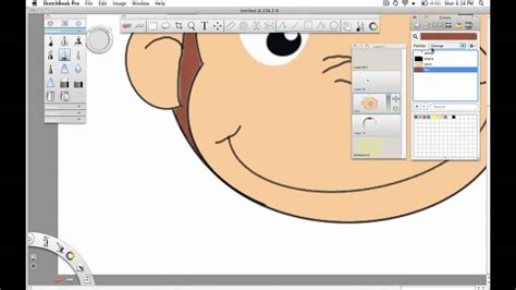 sketchbook pro layers tutorial drawing a monkey in autodesk sketchbook