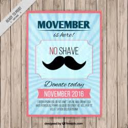 blue poster for movember vector free download