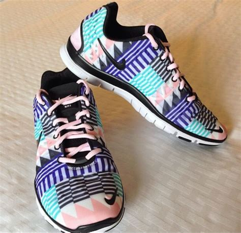 tribal colorful nike running shoes fashion
