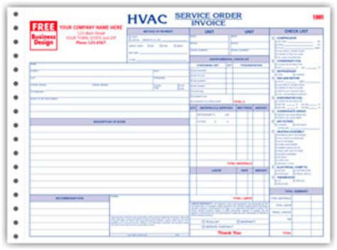 Free Hvac Business Plan Template hvac invoices anuvrat info
