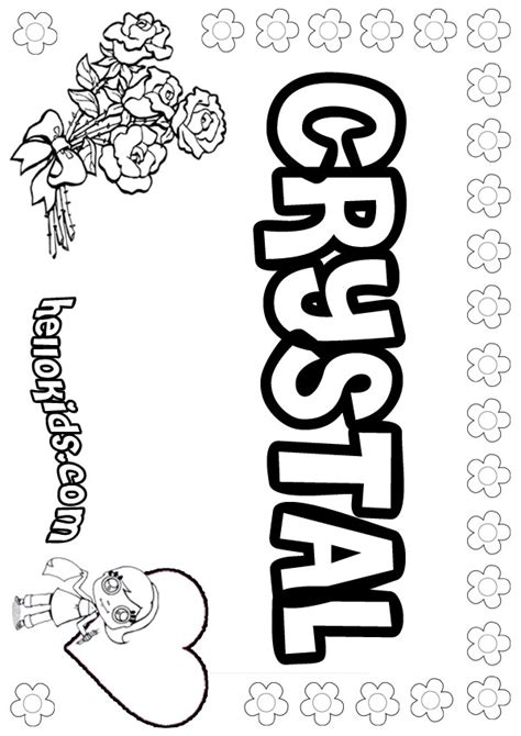 names of girls pages coloring pages