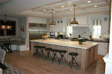 kitchen island with sink dishwasher and seating home