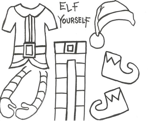 printable elf bodies elf yourself take up close photos of the students heads
