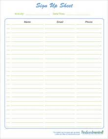 Sign In Sheet Free Template by 4 Sign In Sheet Templates Excel Xlts