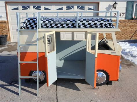 vw bus bed the micro bus bunk bed and playhouse