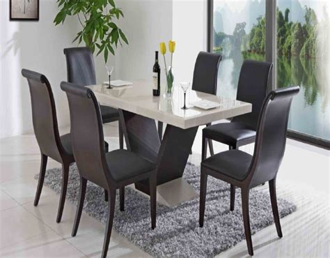 Dining Tables For Small Rooms Rectangle Wooden Table Combined With Black Chairs Maroon Seat Also Bars On The Back