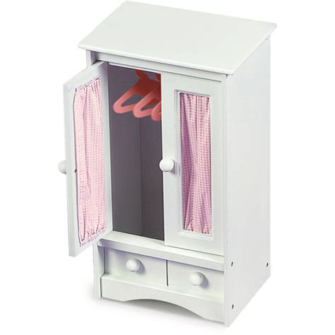 badger basket doll armoire with hangers fits most 18