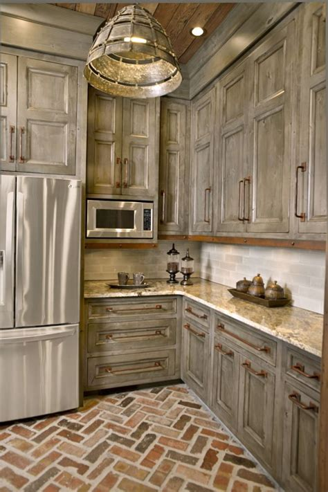 Antique Grey Kitchen Cabinets by 25 Best Ideas About Rustic Kitchen Cabinets On