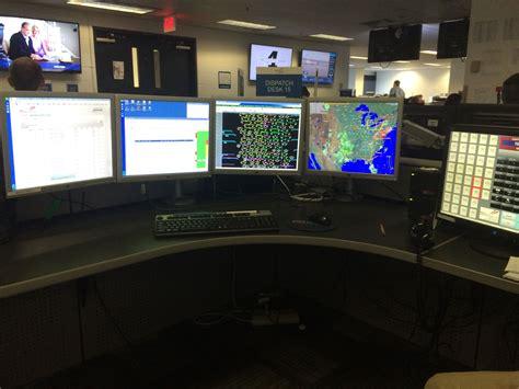 a view of an aircraft dispatcher workstation courtesy of endeavor air aircraft dispatcher