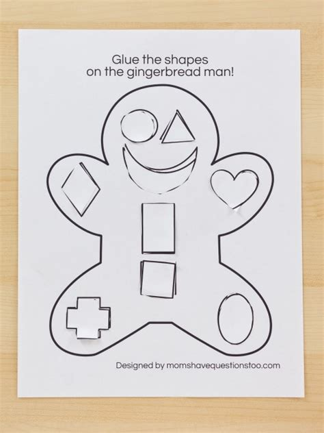 gingerbread man printable activities for preschool gingerbread man cut and paste preschool activity moms