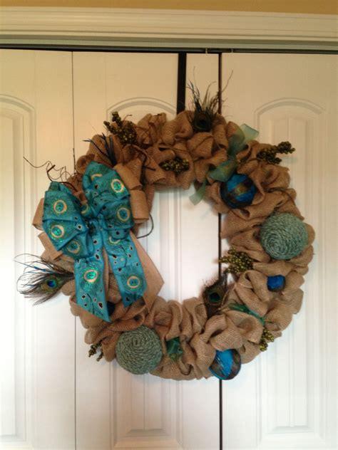 love  peacock wreath   fun     front