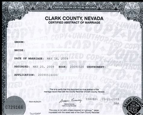 Carson City Nv Marriage Records Certificat Mariage Las Vegas