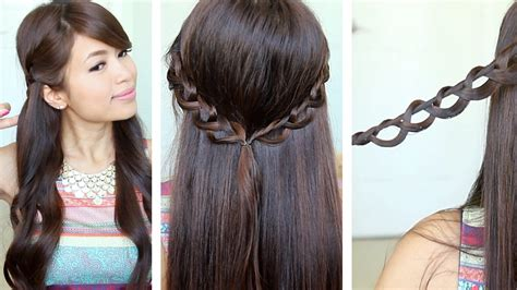 how to do long hairstyles chain braid headband hairstyle for medium long hair