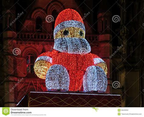 big santa claus big santa claus albert square manchester editorial image image 35529350