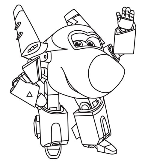 super jet coloring pages super wings robocop transformer coloring pages animation