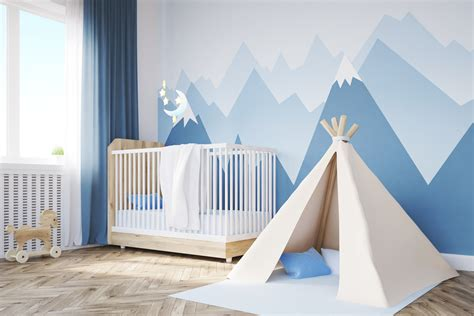 kinderzimmer berge deko babyzimmer deko quot natur abenteuer quot selbst gemalte berg