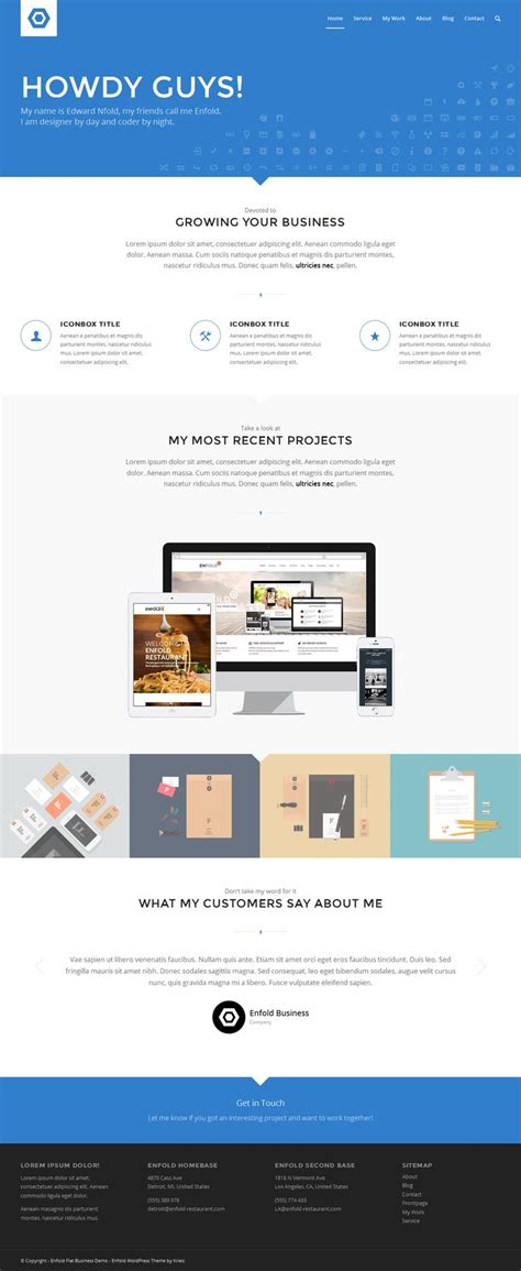 enfold theme preview enfold responsive multi purpose flat business wordpress