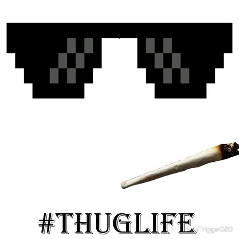 Thug Life Meme - quot thug life glasses quot art prints by newtrigger020 redbubble
